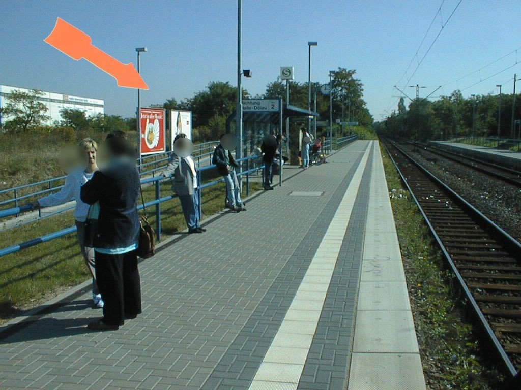 S-Bf Südstadt, Bstg.Ri. Dölau, am Zugang