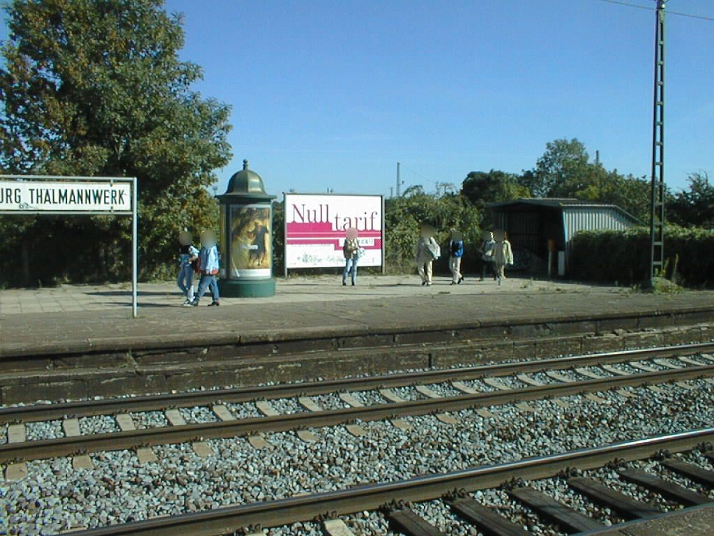 S-Bf Thälmannwerk,Bstg., Gleis 1