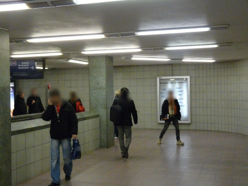S-Bf Bundespl, Übg. z. U-Bahn, Ri. Steglitz. re.