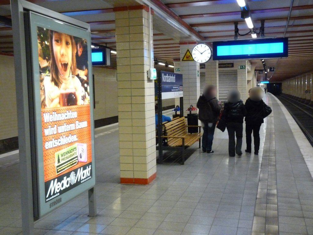 S-Bf Nordbahnhof, Bstg., Se. Gleis 3, 1. Sto.