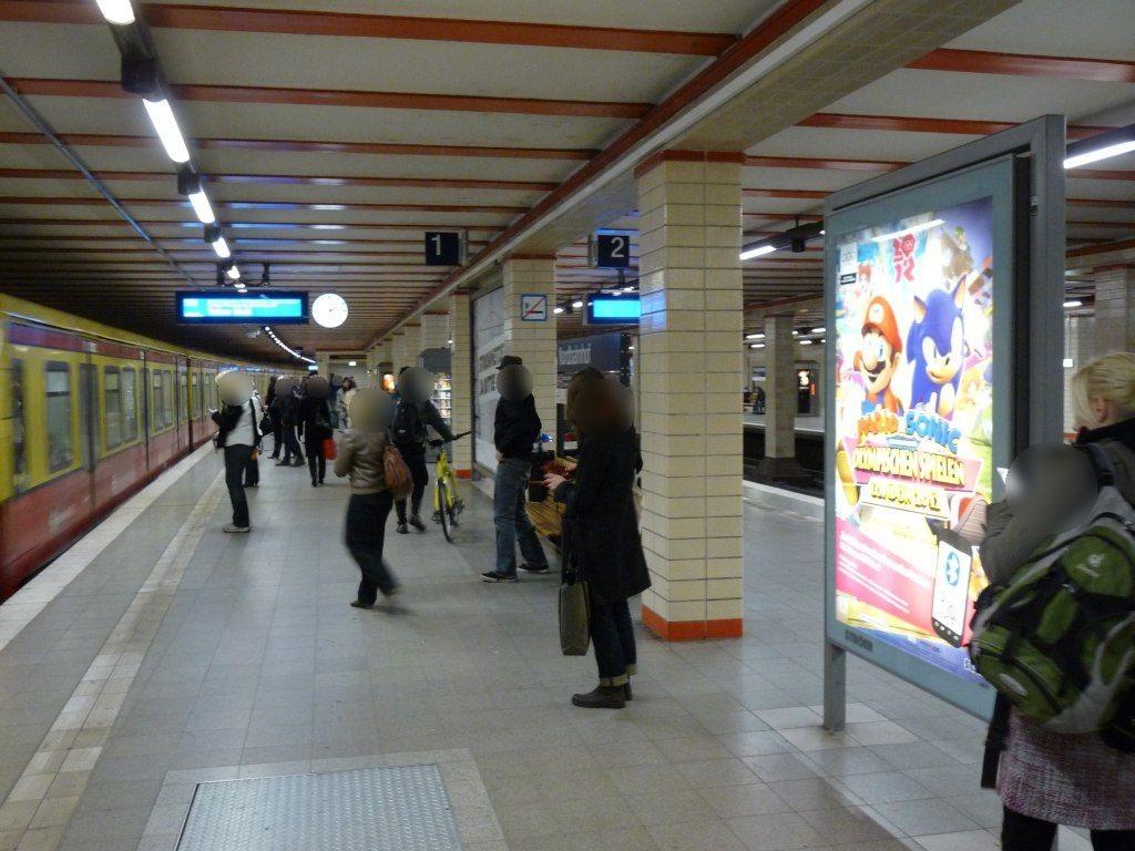 S-Bf Nordbahnhof, Bstg., Se. Gleis 1, 2. Sto.