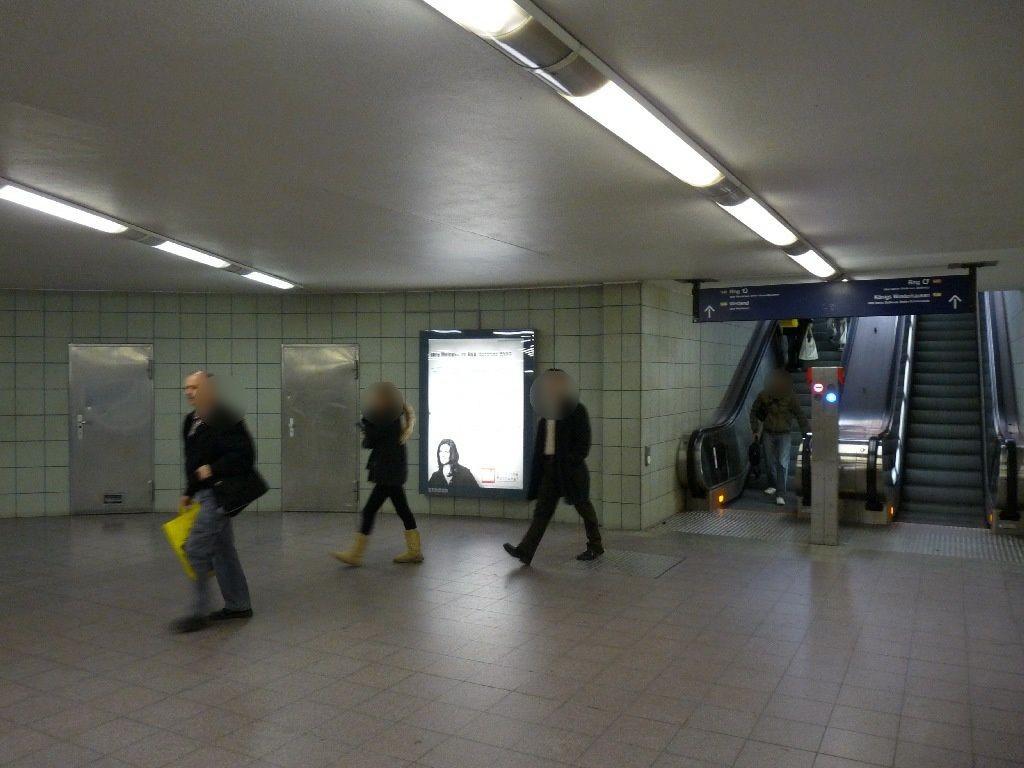 S-Bf Bundespl, Bf-Halle, Übg.zur U-Bahn, 2 Sto.