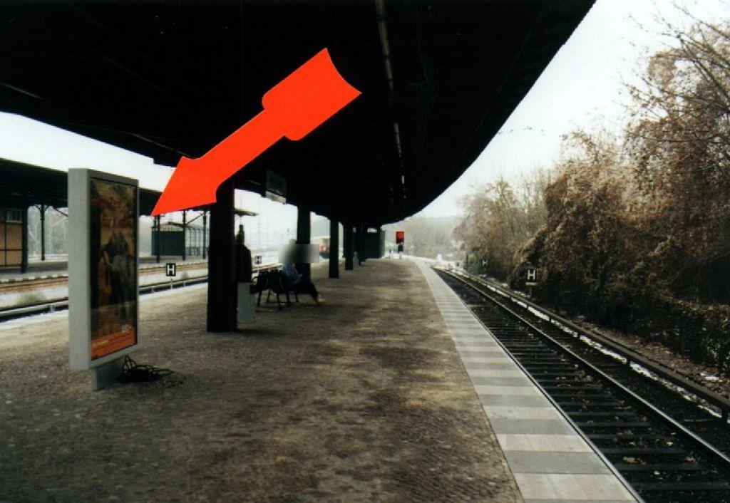 S-Bf Grunewald,Bstg., Gleis 1, Ri.Potsdam, 2. Sto.