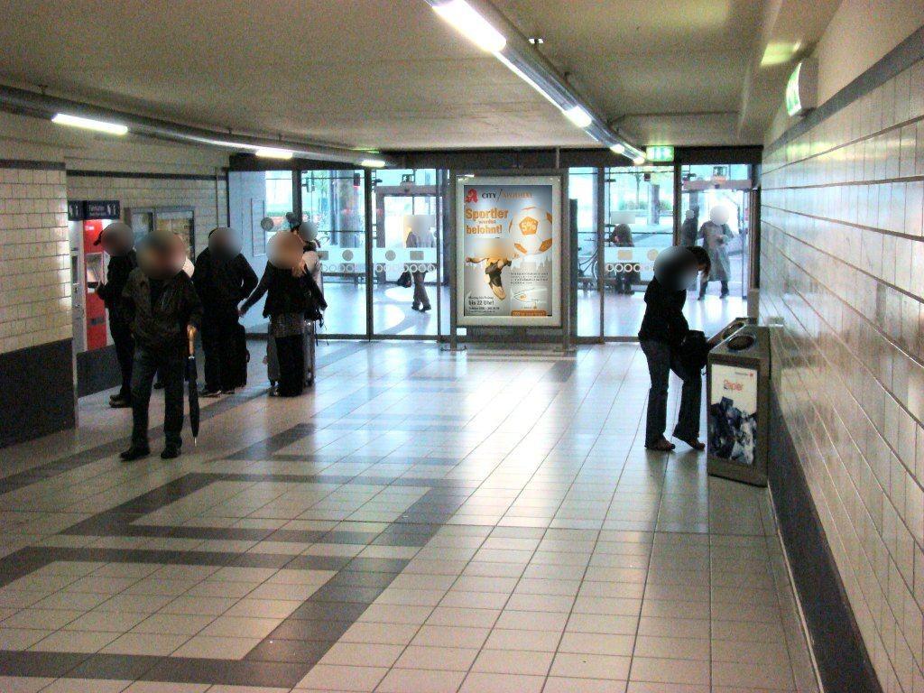 HBF, Ausgang ZOB, Personentunnel innen