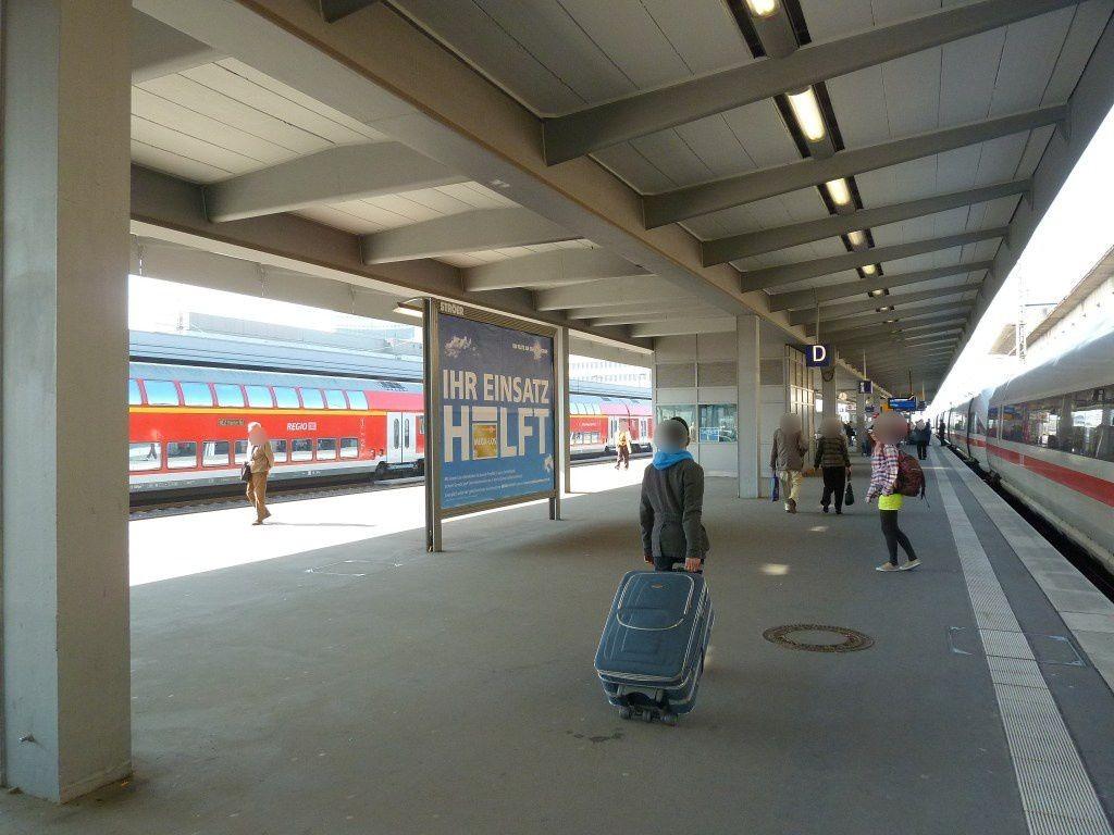 Hbf /Bstg. Gleis 1/Nh. Osttunnel/1. Sto.