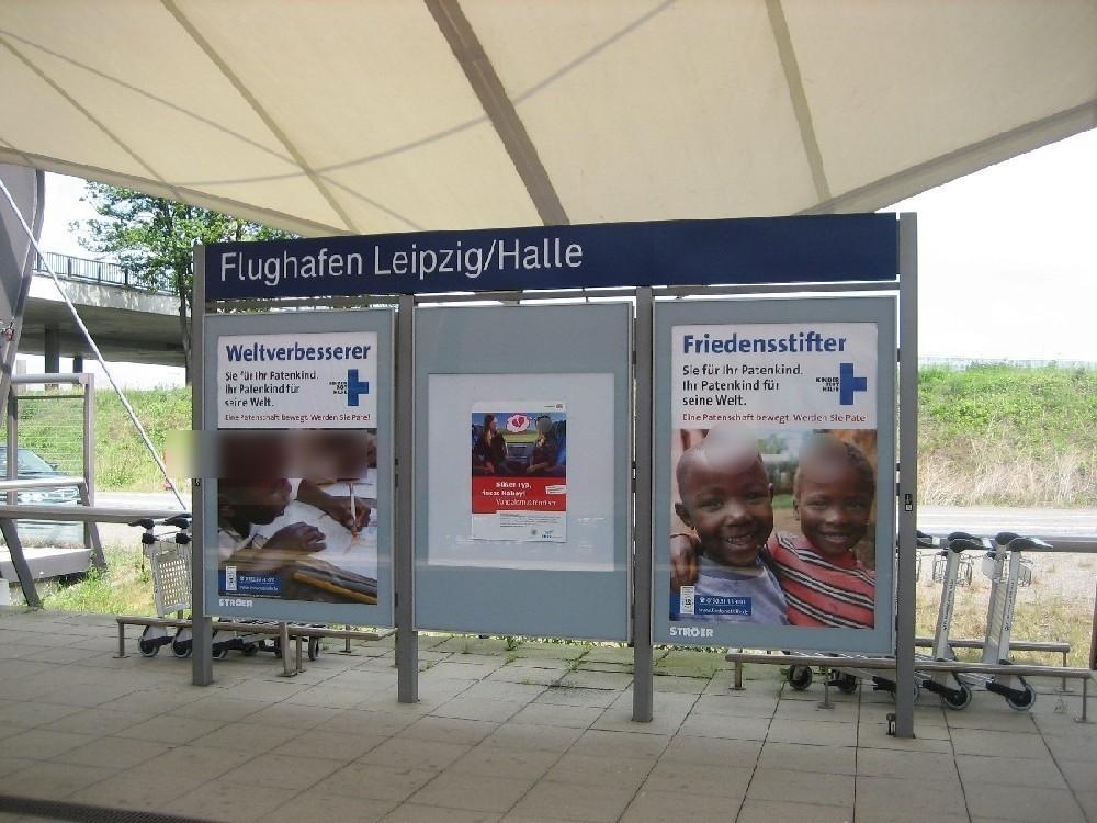 Flughafen-Bf Leipzig-Halle , Bstg. 2, 1. Sto. re.