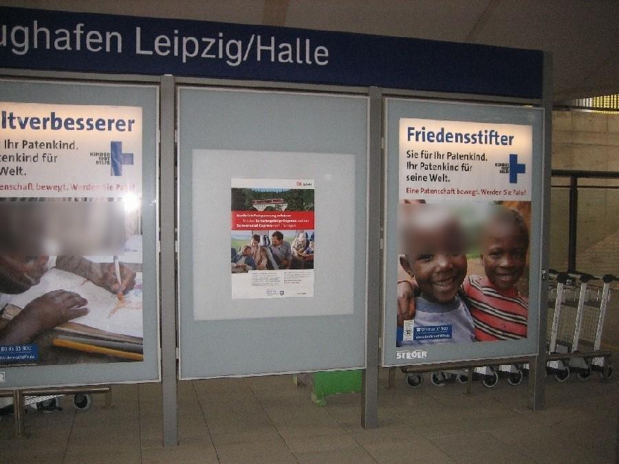 Flughafen-Bf Leipzig-Halle , Bstg. 1, 2. Sto. re.