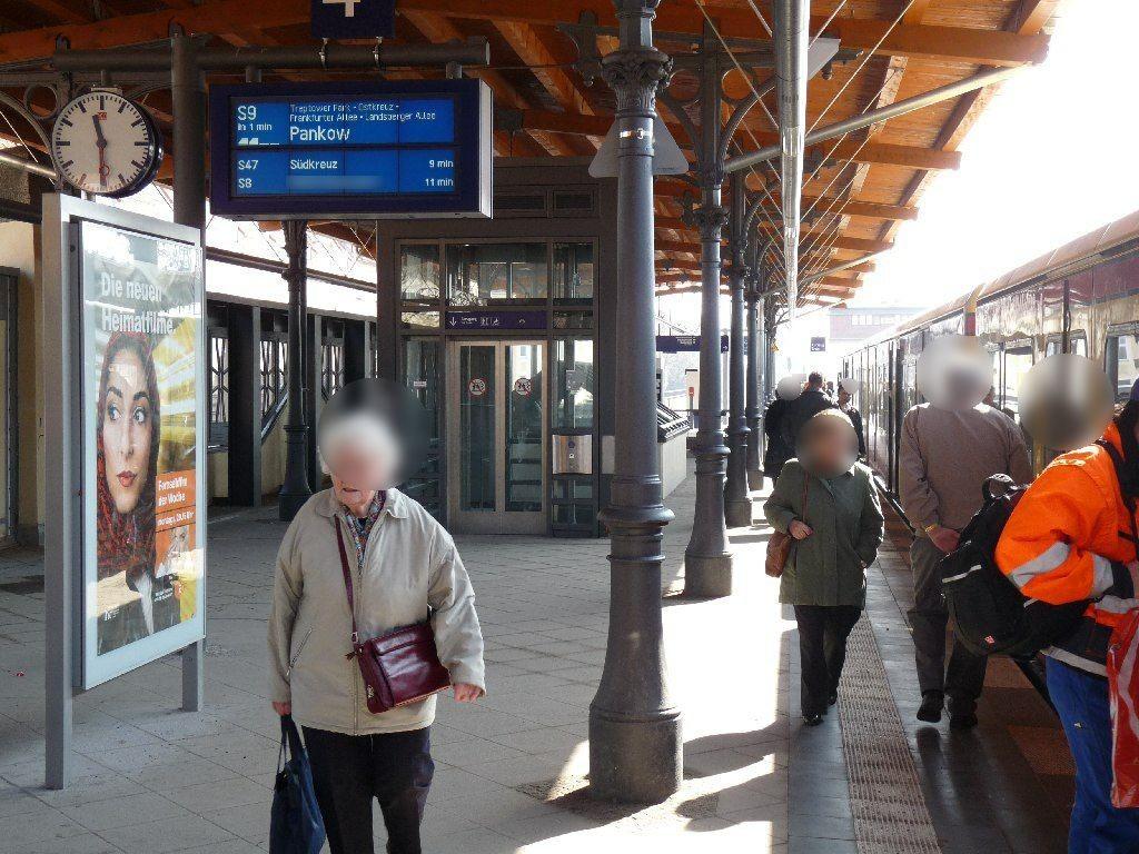 S-Bf Baumschulenweg,S-Bstg., Gl.4,Si. Bahnsteig