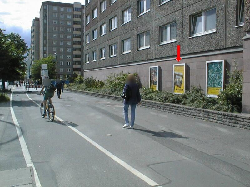 Frankfurter Allee, an Gebäude DB AG,  2.Sto.
