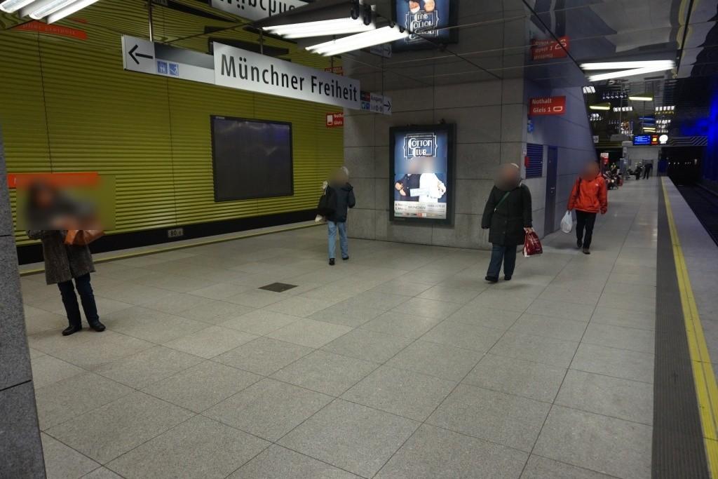 Münchner Freiheit Bahnsteig mitte Gl. 1+3