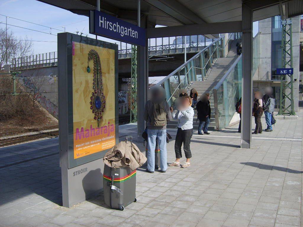S-Bf Hirschgarten Bstg. Gleis 2 2.Sto.