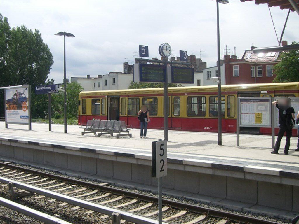 S-Bf Baumschulenweg, Bstg. Gl.5, 1.Sto. saw.