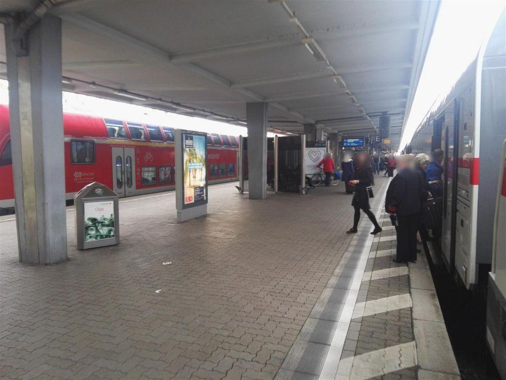 Hbf, Gleis 7/8 Ostseite, Sicht Gleis 7