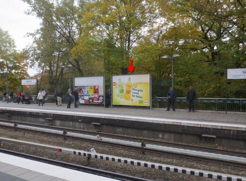 U-Bf Volksdorf Bahnsteig Ri. Ohlstedt