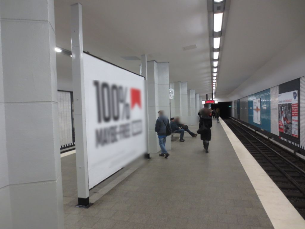 U-Bf Straßburger Str. Bstg. Gl. 1, Ri. AT