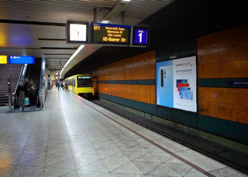 U-Bf Berliner Platz, Bstg., HGL 1, 2. Sto. HGL