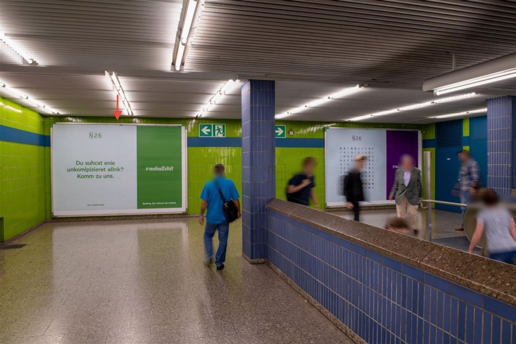 Westpark/Ostkopf Ausg. geg. Rolltreppe