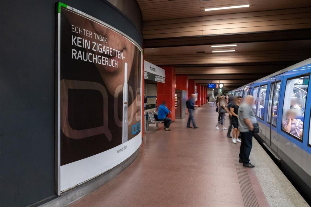 Harras/Bahnsteig mi. Gleis 2 Gebogen