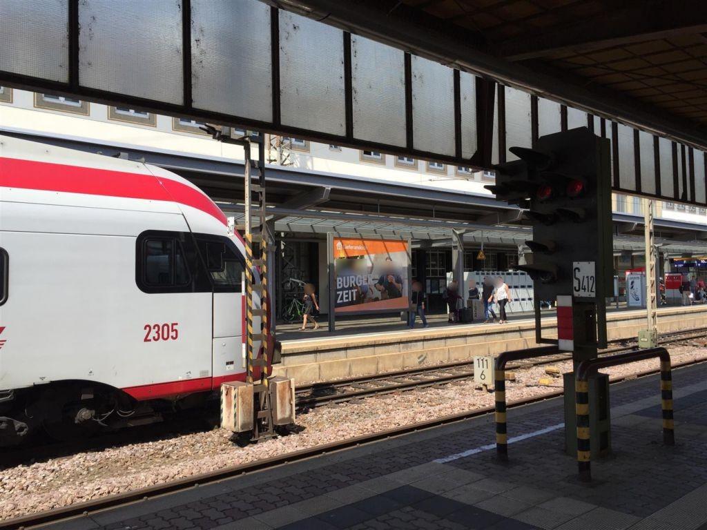 Hbf Bstg. C 11 Süd/ Blick Rad-Station